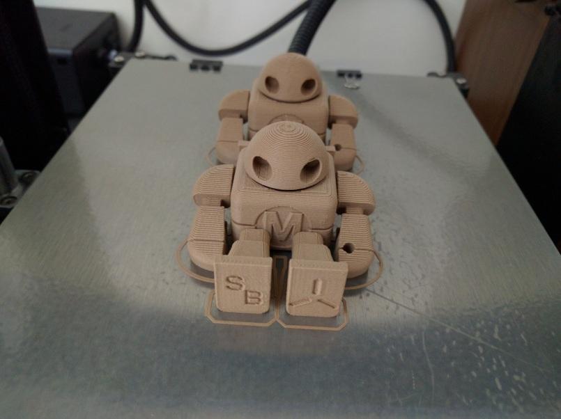 Robots w/ Joints, Wood Composite